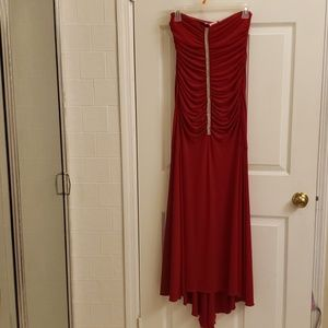 Wishes,Wishes,Wishes formal long red dress SMALL